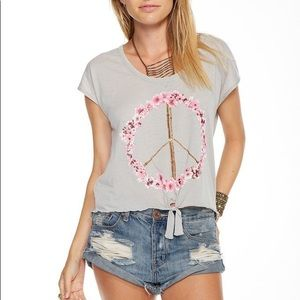 Chaser Pink Blossom Peace Sign Tee